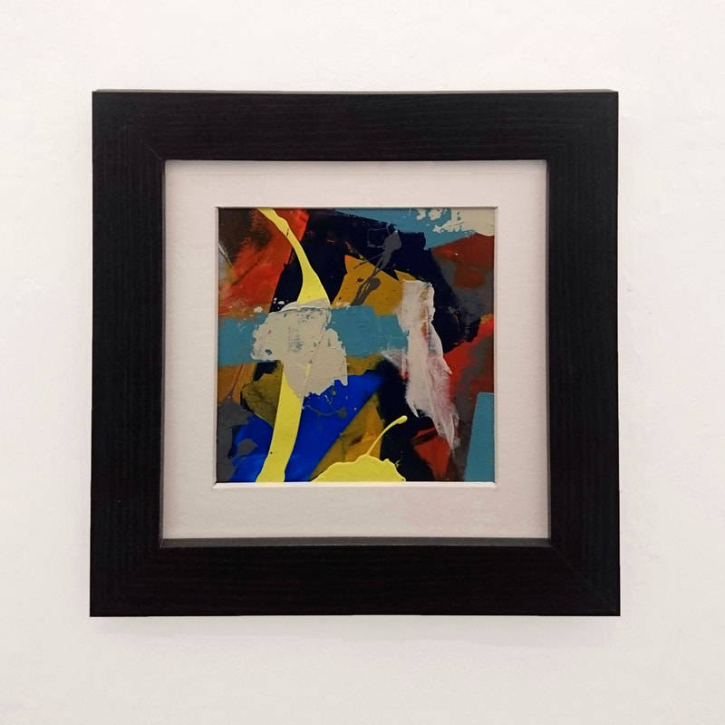 framed abstract acrylic on paper by Steve Wilde