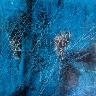 Oil pastel and cold wax on acrylic on paper - Steve Wilde
