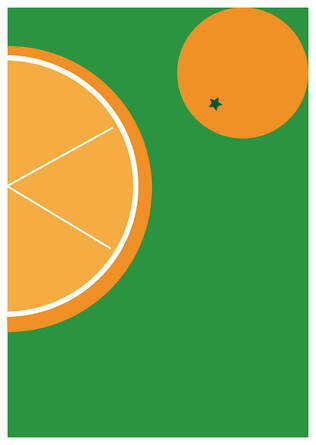 Oranges giclee print Etsy Steve Wilde graphic design art artist