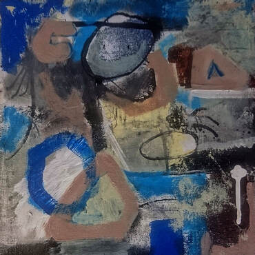 Mixed media on canvas board - Steve Wilde